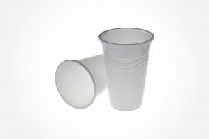 Pahar alb 250ml din plastic