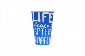 Pahar carton 12oz 300ml coffee life