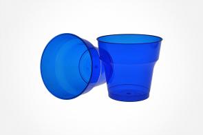 Pahar Cristal 200ml Albastru